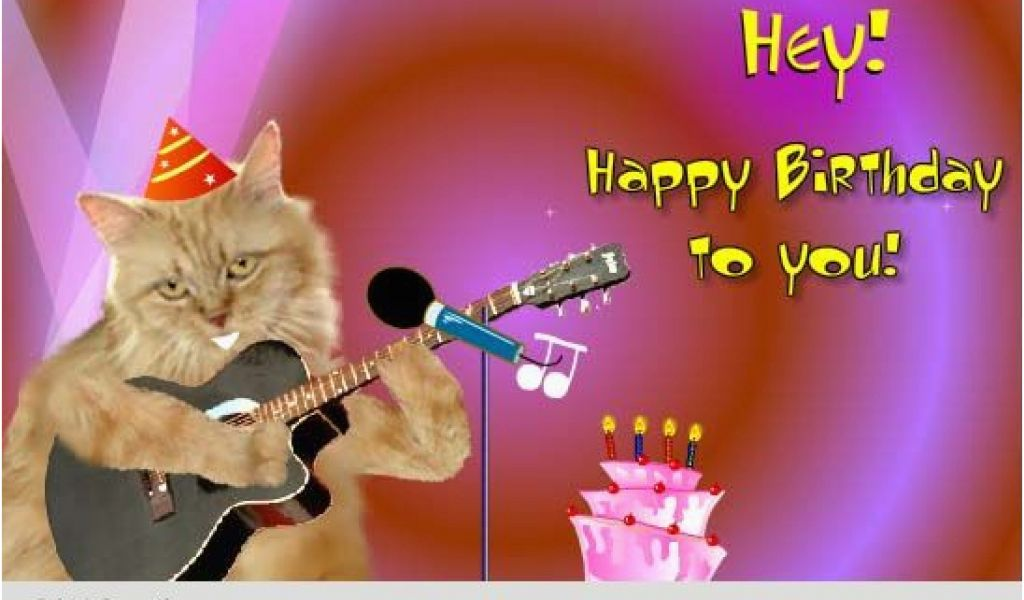 Singing Happy Birthday Cards With Name Cat Free