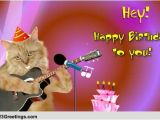 Singing Happy Birthday Cards with Name Singing Birthday Cat Free songs Ecards Greeting Cards