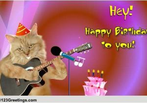 Singing Happy Birthday Cards With Name Cat Free Songs Ecards Greeting