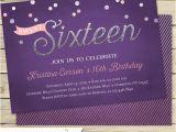 Sixteenth Birthday Invitations Sweet 16 Birthday Invitation Sweet Sixteen Birthday