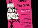 Sixteenth Birthday Invitations Sweet 16 Birthday Invitation Sweet Sixteen Party by