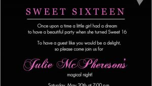 Sixteenth Birthday Invitations Sweet 16th Birthday Invitations Templates Free Printable