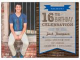 Sixteenth Birthday Invitations Woodsy Banner Boys 16th Birthday Invitations Paperstyle
