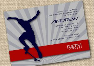Skateboard Birthday Invitations 7 Best Images Of Printable Birthday Cards for Guys Free