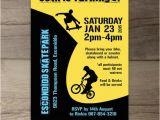 Skateboard Birthday Invitations Bmx Party Skate Park Birthday Party Invitations Skateboard