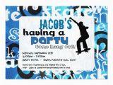 Skateboard Birthday Invitations Free Birthday Party Invitation Templates Dolanpedia