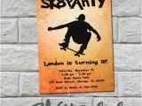 Skateboard Birthday Invitations Items Similar to Skateboard Party Birthday Invitation