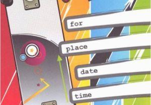Skateboard Birthday Invitations Listed In Lil Pickle Boys Rad Skateboard Birthday