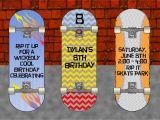 Skateboard Birthday Invitations Pb Skateboard Skateboard Party Skateboard Party