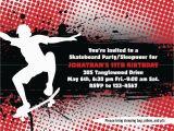 Skateboard Birthday Invitations Skateboard Invites Printable