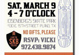 Skateboard Birthday Invitations Skateboard themed Birthday Party Invite On Behance