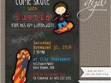 Skateboard Birthday Invitations Skateboarding Birthday Invitation Skateboard Party