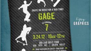 Skateboard Invitations Birthday Party Skateboard Scooter Birthday Party Invitation Cool Modern
