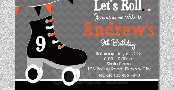 Skating Rink Birthday Party Invitations Boys Skating Birthday Invitation Boys Roller Skating