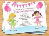 Skating Rink Birthday Party Invitations Ice Skating Birthday Party Invitation