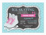 Skating Rink Birthday Party Invitations Ice Skating Birthday Party Rink Skate Invite Zazzle
