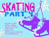 Skating Rink Birthday Party Invitations Ice Skating Party Invitation Template