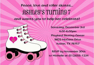 Skating Rink Birthday Party Invitations Roller Skating Birthday Invitations Ideas Bagvania Free