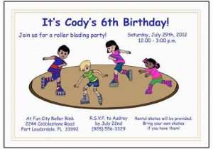 Skating Rink Birthday Party Invitations Roller Skating Birthday Party Invitation Rink Design