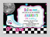 Skating Rink Birthday Party Invitations Skating Party Invitations Party Invitations Templates