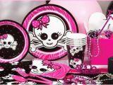 Skull Birthday Decorations Pink Skull Zebra Party Supplies Kids Birthday Parties