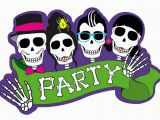 Skull Birthday Decorations Skull Party Day Of the Dead Cutout Decoration by Boland