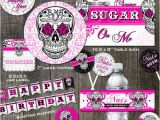 Skull Birthday Decorations Sugar Skull Birthday Party Decoration Package Cake toppers