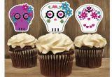 Skull Birthday Decorations Sugar Skull Party Decorations Set Of 12 by thebirthdayhouse
