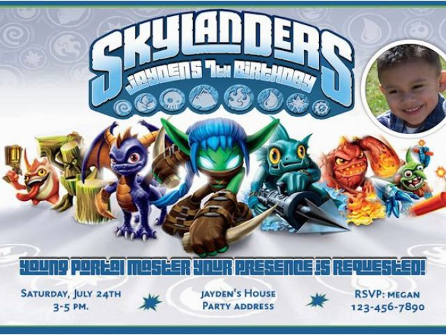 Download By SizeHandphone Tablet Desktop Original Size Back To Skylander Birthday Invites