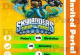 Skylander Birthday Party Invitations Items Similar to Skylanders Swap force Birthday Party