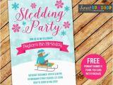 Sledding Birthday Party Invitations Items Similar to Sledding Party Pink Birthday Invitation
