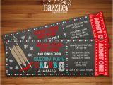 Sledding Birthday Party Invitations Printable Chalkboard Sledding Ticket Birthday Invitation