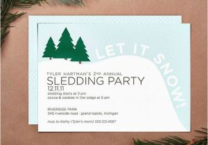 Sledding Birthday Party Invitations Sledding Party Invitation Flickr Photo Sharing