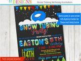 Sledding Birthday Party Invitations Snow Tubing Birthday Party Invitation Sledding Party
