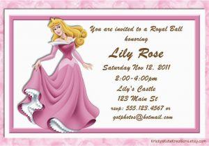 Sleeping Beauty Birthday Invitations Disney 39 S Aurora Invitation