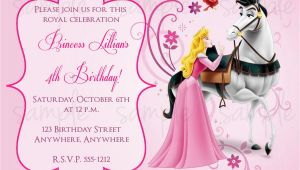 Sleeping Beauty Birthday Invitations Sleeping Beauty Birthday Invitation