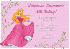 Sleeping Beauty Birthday Invitations Princess Aurora Invitation