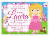 Sleeping Beauty Birthday Party Invitations Princess Aurora Sleeping Beauty Inspired Birthday Invitation
