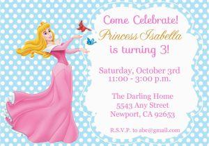 Sleeping Beauty Birthday Party Invitations Princess Aurora Invitation Kid 39 S