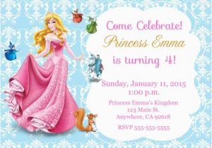 Sleeping Beauty Birthday Party Invitations Princess Aurora Invitation Kid 39 S