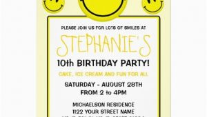 Smiley Face Birthday Invitations 15 Best Smile It 39 S Your Birthday Images On Pinterest