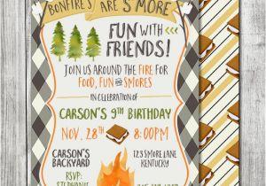 Smores Birthday Party Invitations S 39 Mores Invitation Smores