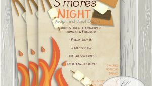 Smores Birthday Party Invitations S 39 Mores Invitation Smores Camping Invitation Campfire