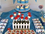 Smurf Decorations for Birthday Party Smurf Party Eats Treats Table Party Ideas Pinterest