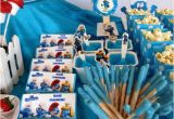 Smurf Decorations for Birthday Party Smurfs Birthday Party Ideas Photo 51 Of 61 Catch My Party