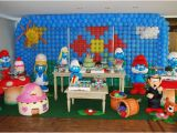 Smurf Decorations for Birthday Party Smurfs Kids Party Decor Table Party Birthday Ideas