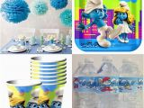 Smurf Decorations for Birthday Party Smurfs Party Decorations Party Ideas for A Smurfs themed