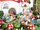 Smurf Decorations for Birthday Party Smurfs Village Birthday Party Ideas Photo 1 Of 28