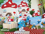 Smurf Decorations for Birthday Party Smurfs Village Birthday Quot Smurfs Village Quot Catch My Party