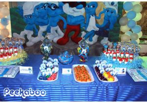 Smurf Decorations For Birthday Party Smurfs Party Decorations Party